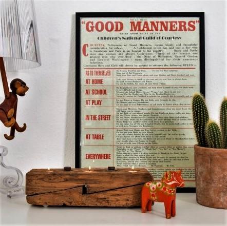 Gode Manerer. Plakat