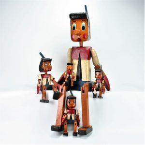 Pinocchio,træfigur,håndlavet,gave